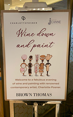 Domaine des Jeanne Brown Thomas Wine Down and Paint 248x400 1 - Domaine des Jeanne in Brown Thomas